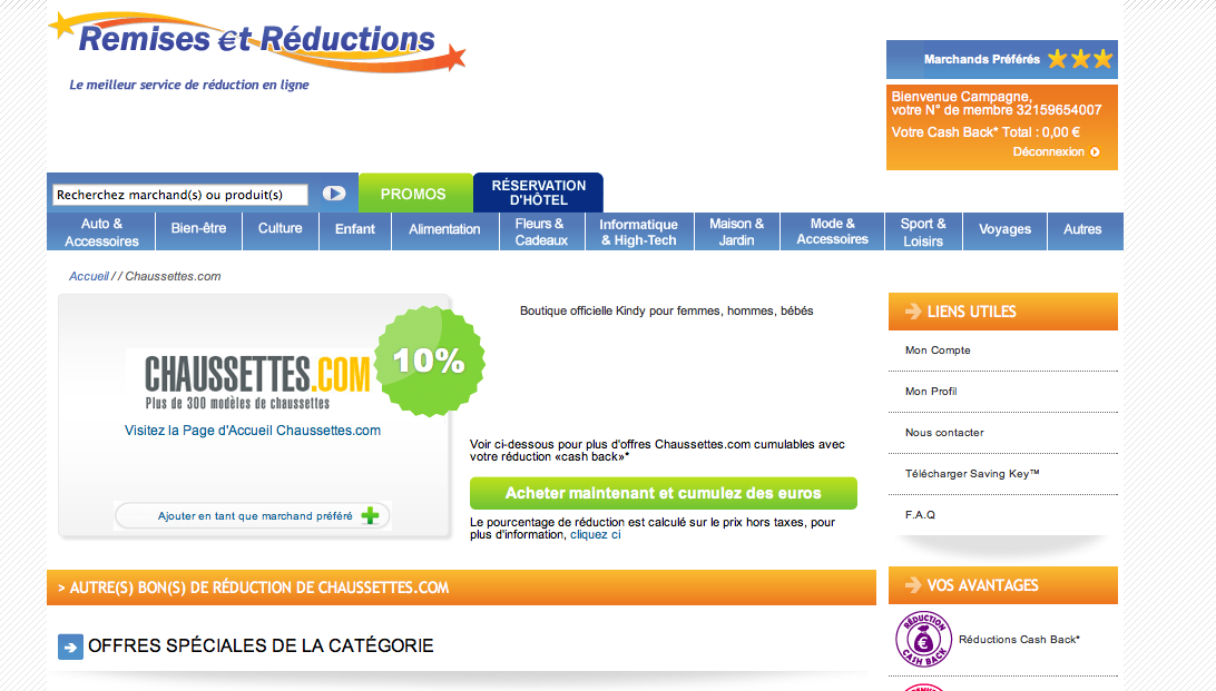 remises et reductions