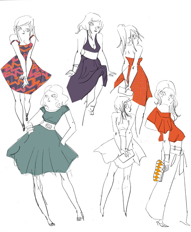 H m ou comment je suis devenue styliste amelimelo - Dessin de fille de mode ...